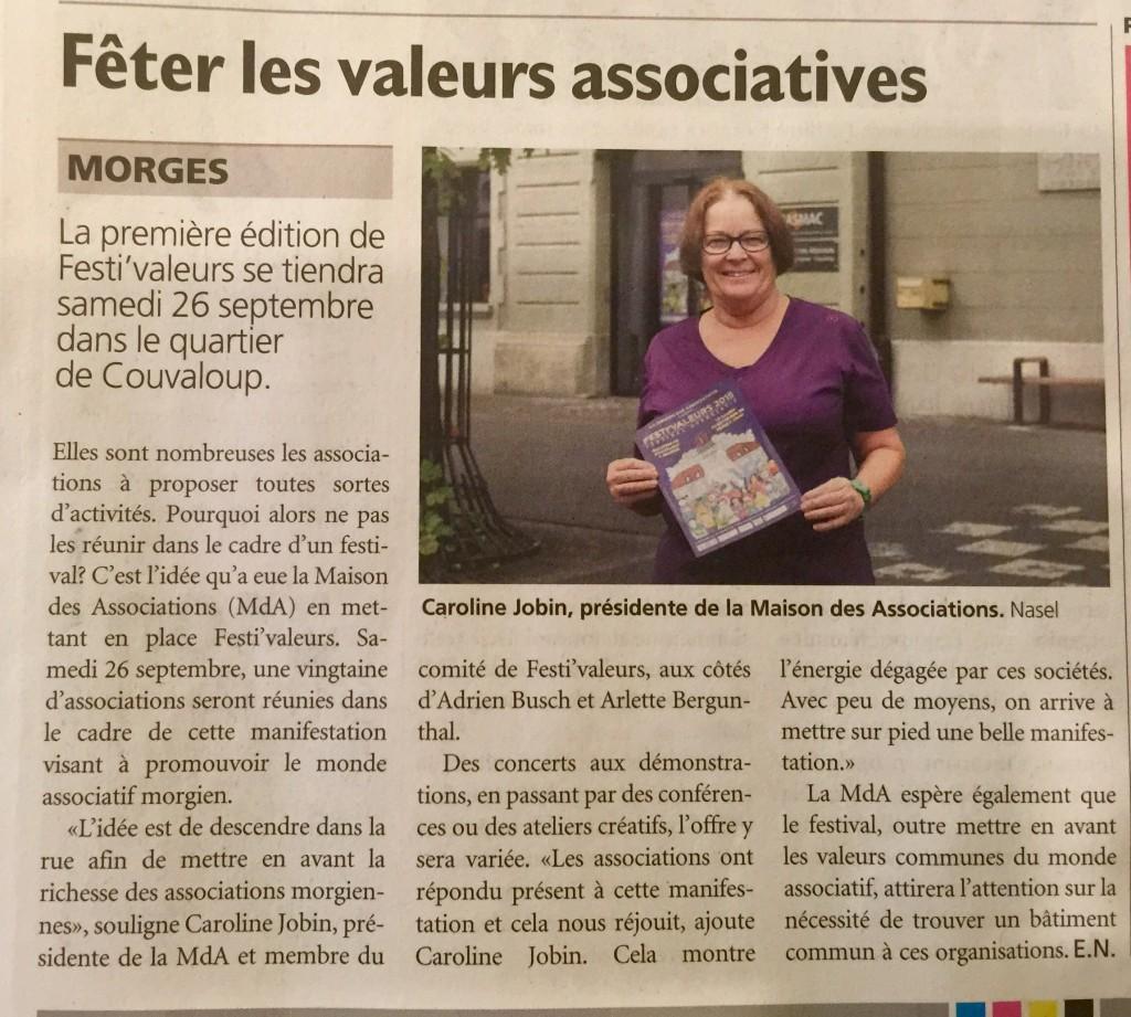 Journal de Morges 19/09.2015